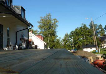 Bygga altan i Kallhäl
