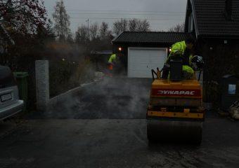 Asfaltering i Ekerö