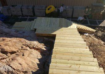 Byggnation av trappa