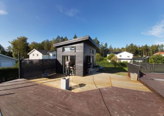 Attefallshus i Täby